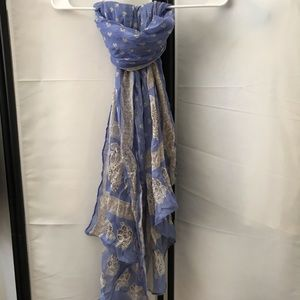 Periwinkle paisley scarf
